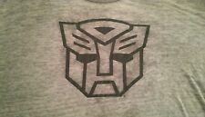 Transformers Autobot T Shirt Adult Short Sleeve Faded Gray Hasbro FREE SHIPPING!