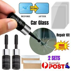 2x Automotive Glass Nano Repair Auto Front Car Window Windshield Crack Repair AU