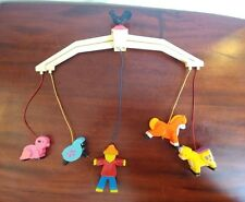 Vintage 1970s Farm Crib Mobil Fisher Price Rooster Farmer Animals