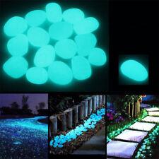 100 Pcs Glow in the Dark Garden Pebbles Glow Stones Rocks Walkways Garden Decor