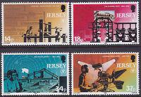 Jersey 1990 Literacy Year / Media Formats Set UM SG526-9 Cat £2.50