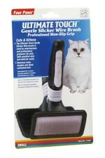 Four Paws Ultimate Touch Slicker Wire Brush For Cats Gentle Eliminate Hair