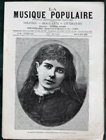 """La Musique Populaire"" orig 1883 French Music Weekly (10 issues)"