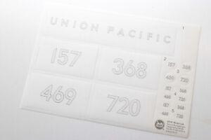 LGB AUFKLEBER » LGB 20192 23191 Mogul Dampflok » BESCHRIFTUNGSBOGEN Union Pacifi