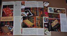 1976-80 FRANKLIN LIBRARY book club ads x5, 20th Century, Western World, First Ed