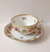 Cup & Saucer Set Empress Dresden Flowers bySCHUMANN - BAVARIA