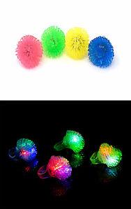New 2-96 Fern Style Flashing LED Jelly Rings Light Up Finger Glow Bag Wholesale