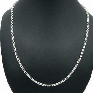 Sterling Silver Genuine Cable Chain