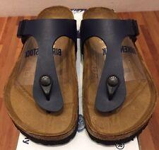 Birkenstock Gizeh 143621 size 37 L6-6.5 R Blue Birko-Flor Thong Sandals