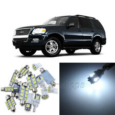White 9pcs Interior LED Light Kit for 2002-2010 Ford Explorer