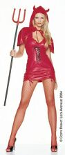 RED DEVIL MINI  DRESS AND CAPE COSTUME OUTFIT LEG AVENUE IMP HORNS SEXY S 8 10
