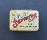 Boite publicitaire aiguille phono SONGSTER needle pick-up old french box