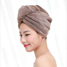 Super Absorbent  Fiber Hair Drying Towel Turban Bathing Hat Head Wrap