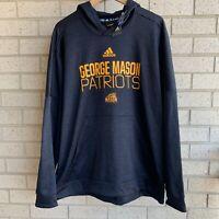 Adidas George Mason Patriots Black Pullover Hoodie Sweathshirt - Men's Size 2XL