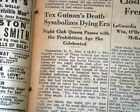 TEXAS GUINAN Queen of the Night Clubs Prohibition Speakeasy DEATH 1933 Newspaper
