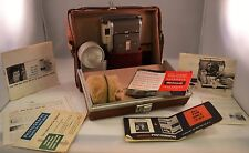 Vintage POLAROID HIGHLANDER LAND CAMERA Model 80A Case, Flash & More