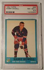 1962 Topps #46 Harry Howell (HOF) PSA 8.5 NM-MT+ Rangers, Rare, POP 2, 10 Higher