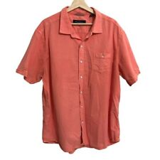 Tommy Bahama Button Up Shirt Size XXL Short Sleeve Textured Button Down Shirt Or