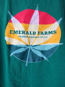 2XL XXL EMERALD FARMS GREEN SHUT UP & VAPE TEE SHIRT t mens marijuana jamaican
