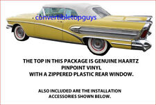 BUICK SUPER, ROADMASTER & CADILLAC CONVERTIBLE TOP COMPLETE PACKAGE 1957-58