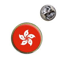 Hat Tie Pin Tack Flag of Hong Kong Lapel