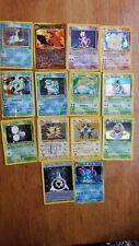 Vintage Base Set and other Pokemon Used Heavily 14 Card Lot Venusaur + Blastoise