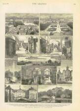 1881 - Antique Print GERMANY Royal Wedding Carlsruhe Mainau Castle  (068)