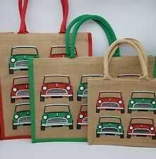 Collection of Mini Car Themed Jute Shopping Bags (3 bags)