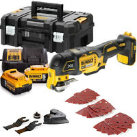 Dewalt DCS355N 18V MultiTool With Acc. + 2 x 5Ah Batteries, Charger & T-Stack
