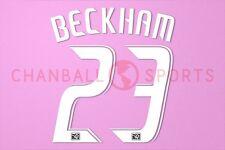 Beckham #23 2008-2012 LA Galaxy awaykit Nameset Printing