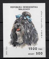 (W1251) MADAGASCAR, 1991, DOGS, BL. 157, MNH/UM, SEE SCAN