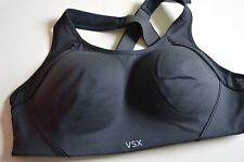 Victoria's Secret sports yoga bra vsx 36B The Standout black wireless hook eye