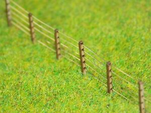 Post & Wire 5ft Lineside Fencing N gauge 1:148 fence kit - 128 posts + 8m wire