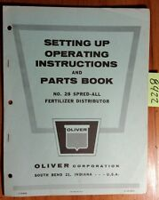Oliver 28 Spred-All Fertilizer Distributor Operator & Setting Up & Parts Manual
