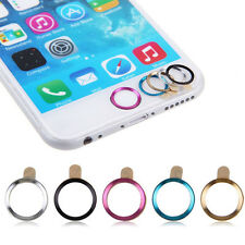 Fashion 5pcs Aluminium Metal Touch ID Home Button Sticker Decals for iPhone