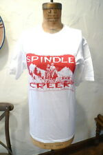 Women's SPINDLE CREEK AUTHENTICS Tee T-Shirt Red & White SMALL Horseback Riding