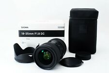 【TOPMINT BOX】 Sigma 18-35mm F/1.8 DC HSM Art lens For Nikon Zoom Lens Japan 1305
