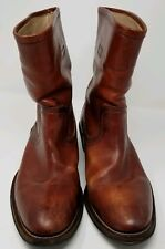 Sciapo Italian Leather Men's Boots - Cognac -Size 41