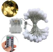 Led String Light, Christmas Lights, 16.5ft, 50 LEDs - Balls - WITH REMOTE
