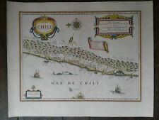 chile Map blaeu beautiful color