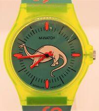 Mondaine 'M-Watch' Diplodocus Dinosaur 7607.565 Mens Swiss Quartz Watch c.90s
