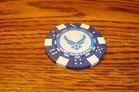 U.S. Air Force logo Dice design Poker Chip,Golf Ball Marker,Card Guard  Blue