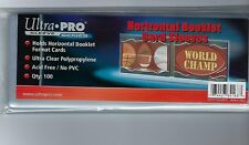 100 Ultra PRO Horizontal Booklet Trading Card Sleeves Clear