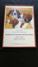 Artist Signed, Museum of Hounds & Hunting Poster 1994, 9th Ann Exhibition,Framed
