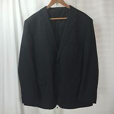 LUCIANO BARDELLI Charcoal Check 2 Btn Wool Jacket Blazer Sport Coat Sz 50R