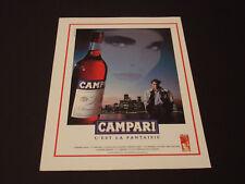 Campari  Années 1985's - 1990's  Advertising Vintage AD Pub Paper 1980 - 1990