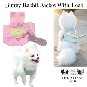 Dog Cat Harness Costume Lead Cute XL Large Small Puppy Vest Clothes Jacket UK