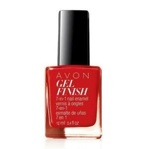 "New in Box Avon Gel Finish 7-in-1 Nail Enamel - ""Roses Are Red"" - NIB"
