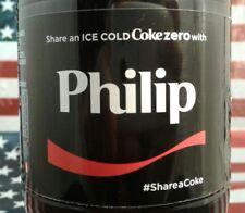 Share A Coke Zero With Philip 2017 Limited Edition Coca Cola Bottle