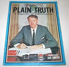 Plain Truth Magazine Sept 1971 Rhodesia Smith Russia DNA Apollo 15 Nixon Sex Ed